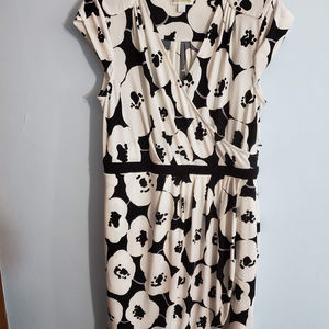 New York And Company   Black and white floral dres
